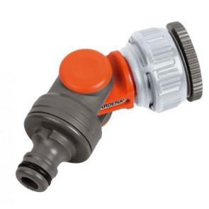 """GARDENA Výkyvná přípojka na vodovodní kohoutek 33,3 mm (G 1"""") / 26,5 mm (G 3/4"""") / 21mm (G 1/2"""") 2998-20"""